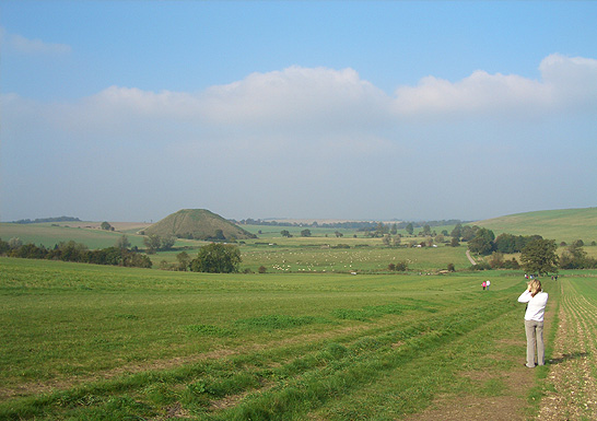 Photographing Silbury Hill